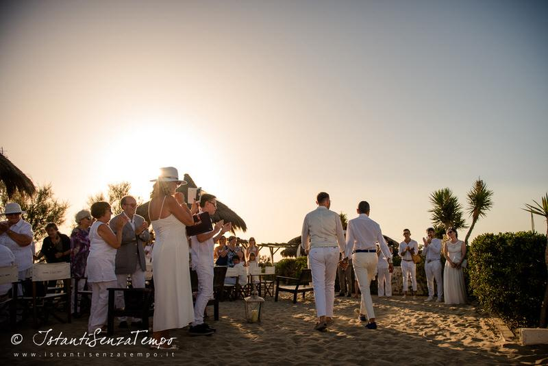 A Wedding with the Ceremony on the beach