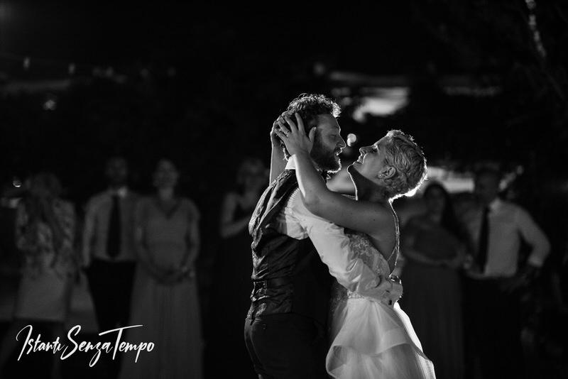 The first dance of bride and groom